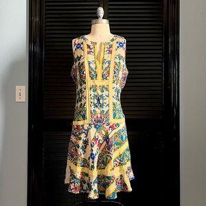 Floral Printed Silk Mini Dress